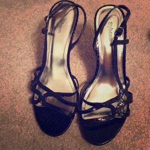 Cute sandals 7.5 2/3 heels black 🌟